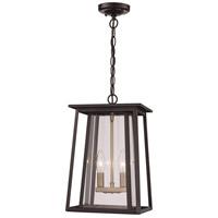 Trans Globe Lighting 50763-BK Geode 2 Light 9 inch Black Outdoor Hanging Lantern