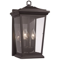 Trans Globe Lighting 50771-BK Turlock 2 Light 17 inch Black Outdoor Wall Lantern
