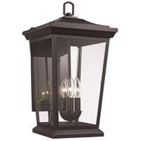 Trans Globe Lighting 50772-BK Turlock 3 Light 19 inch Black Outdoor Wall Lantern