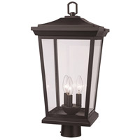 Trans Globe Lighting 50778-BK Turlock 3 Light 15 inch Black Outdoor Postmount Lantern