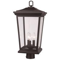 Trans Globe Lighting 50778-BK Turlock 3 Light 15 inch Black Outdoor Postmount Lantern