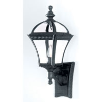 Trans Globe Lighting Classic 1 Light Outdoor Wall Lantern in Black 5080-BK
