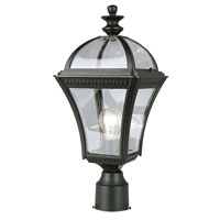 Trans Globe Lighting Classic 1 Light Post Lantern in Black 5085-BK