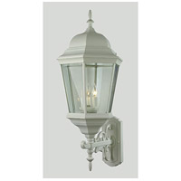 Trans Globe Lighting 51000-WH Classical 3 Light 30 inch White Outdoor Wall Lantern