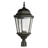 Signature 3 Light 27 inch Black Post Lantern