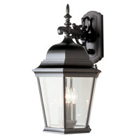 Signature 3 Light 23 inch Black Outdoor Wall Lantern