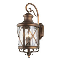 Trans Globe Lighting Coastal 3 Light Outdoor Wall Lantern in Antique Copper 5121-AC