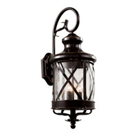 Trans Globe Lighting Coastal 3 Light Outdoor Wall Lantern in Rubbed Oil Bronze 5121-ROB