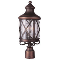 Trans Globe Lighting Coastal 3 Light Post Lantern in Antique Copper 5123-AC