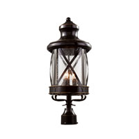 England Coast 3 Light 22 inch Rubbed Oil Bronze Post Lantern