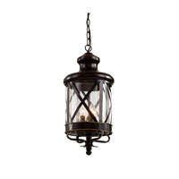 Trans Globe Lighting Coastal 3 Light Outdoor Hanging Lantern in Rubbed Oil Bronze 5124-ROB