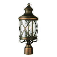 Trans Globe Lighting Coastal 4 Light Post Lantern in Antique Copper 5125-AC