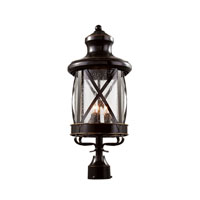 Trans Globe England Coast 4 Light Post Lantern in Rubbed Oil Bronze 5125-ROB