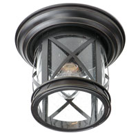 Trans Globe New England Coastal 1 Light Outdoor Flushmount in Rubbed Oil Bronze 5128-ROB