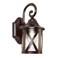 New England 1 Light 13 inch Rubbed Oil Bronze Outdoor Wall Lantern