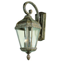 Trans Globe Signature 2 Light Outdoor Wall Lantern in Burnished Rust 5150-BRT