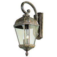 Signature 3 Light 27 inch Burnished Rust Outdoor Wall Lantern