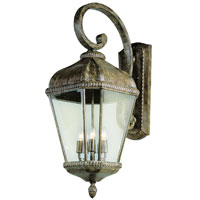 Trans Globe Lighting New American 4 Light Outdoor Wall Lantern in Burnished Rust 5152-BRT