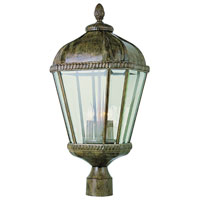 Trans Globe Lighting New American 3 Light Post Lantern in Burnished Rust 5153-BRT