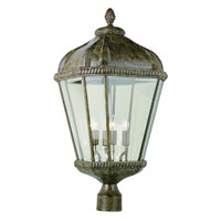 Trans Globe Lighting New American 4 Light Post Lantern in Burnished Rust 5154-BRT