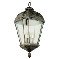 Trans Globe Lighting New American 3 Light Outdoor Hanging Lantern in Burnished Rust 5155-BRT