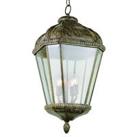 Trans Globe Lighting New American 4 Light Outdoor Hanging Lantern in Burnished Rust 5156-BRT