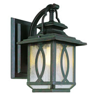 Trans Globe Lighting Estate 1 Light Outdoor Wall Lantern in Burnished Rust 5190-BRT