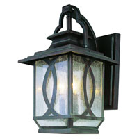Trans Globe Lighting Estate 2 Light Outdoor Wall Lantern in Burnished Rust 5191-BRT