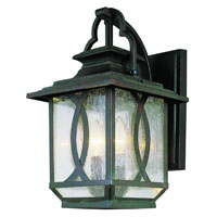 Trans Globe Lighting Estate 3 Light Outdoor Wall Lantern in Burnished Rust 5192-BRT