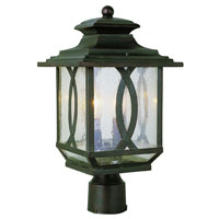 Mission Ranch 2 Light 18 inch Burnished Rust Post Lantern
