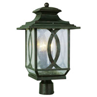 Trans Globe Mission Ranch 3 Light Post Lantern in Burnished Rust 5194-BRT