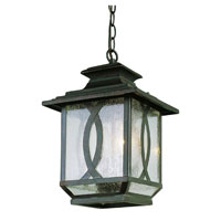 Trans Globe Lighting Estate 2 Light Outdoor Hanging Lantern in Burnished Rust 5195-BRT