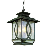 Trans Globe Lighting Estate 3 Light Outdoor Hanging Lantern in Burnished Rust 5196-BRT