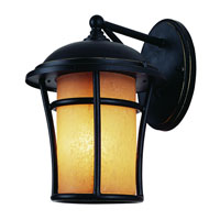 Trans Globe Lighting Craftsman 1 Light Outdoor Wall Lantern in Weathered Bronze 5250-WB