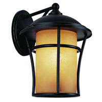 Trans Globe Lighting Craftsman 1 Light Outdoor Wall Lantern in Weathered Bronze 5251-WB