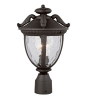 Trans Globe Lighting Villa 1 Light Post Lantern in Black 5274-BK