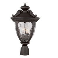 Trans Globe Lighting Villa 2 Light Post Lantern in Black 5276-BK photo thumbnail