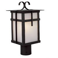 Trans Globe Lighting Craftsman 1 Light Post Lantern in Black 5285-BK photo thumbnail