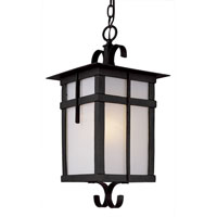 Trans Globe Lighting Craftsman 1 Light Outdoor Hanging Lantern in Black 5286-BK