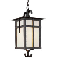 Trans Globe Lighting Craftsman 1 Light Outdoor Hanging Lantern in Rust 5286-RT