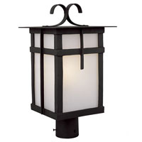 Trans Globe Lighting Craftsman 1 Light Post Lantern in Black 5287-BK
