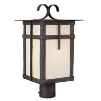 Trans Globe Lighting Craftsman 1 Light Post Lantern in Rust 5287-RT
