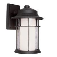 Trans Globe Lighting Craftsman 1 Light Outdoor Wall Lantern in Black 5290-BK