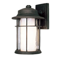 Trans Globe Lighting Craftsman 1 Light Outdoor Wall Lantern in Rust 5290-RT