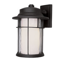 Trans Globe Lighting Craftsman 1 Light Outdoor Wall Lantern in Black 5291-BK