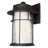 Trans Globe Lighting Craftsman 1 Light Outdoor Wall Lantern in Black 5292-BK