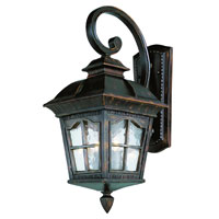 Trans Globe Lighting New American 3 Light Outdoor Wall Lantern in Antique Rust 5420-AR
