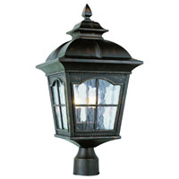 Trans Globe Lighting New American 3 Light Post Lantern in Antique Rust 5422-AR