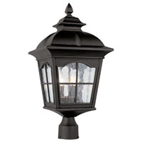 Trans Globe Lighting New American 3 Light Post Lantern in Black 5422-BK