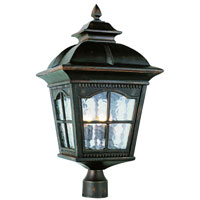 Trans Globe Lighting New American 4 Light Post Lantern in Antique Rust 5425-AR
